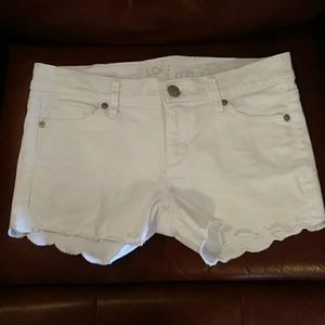 LOFT scalloped shorts